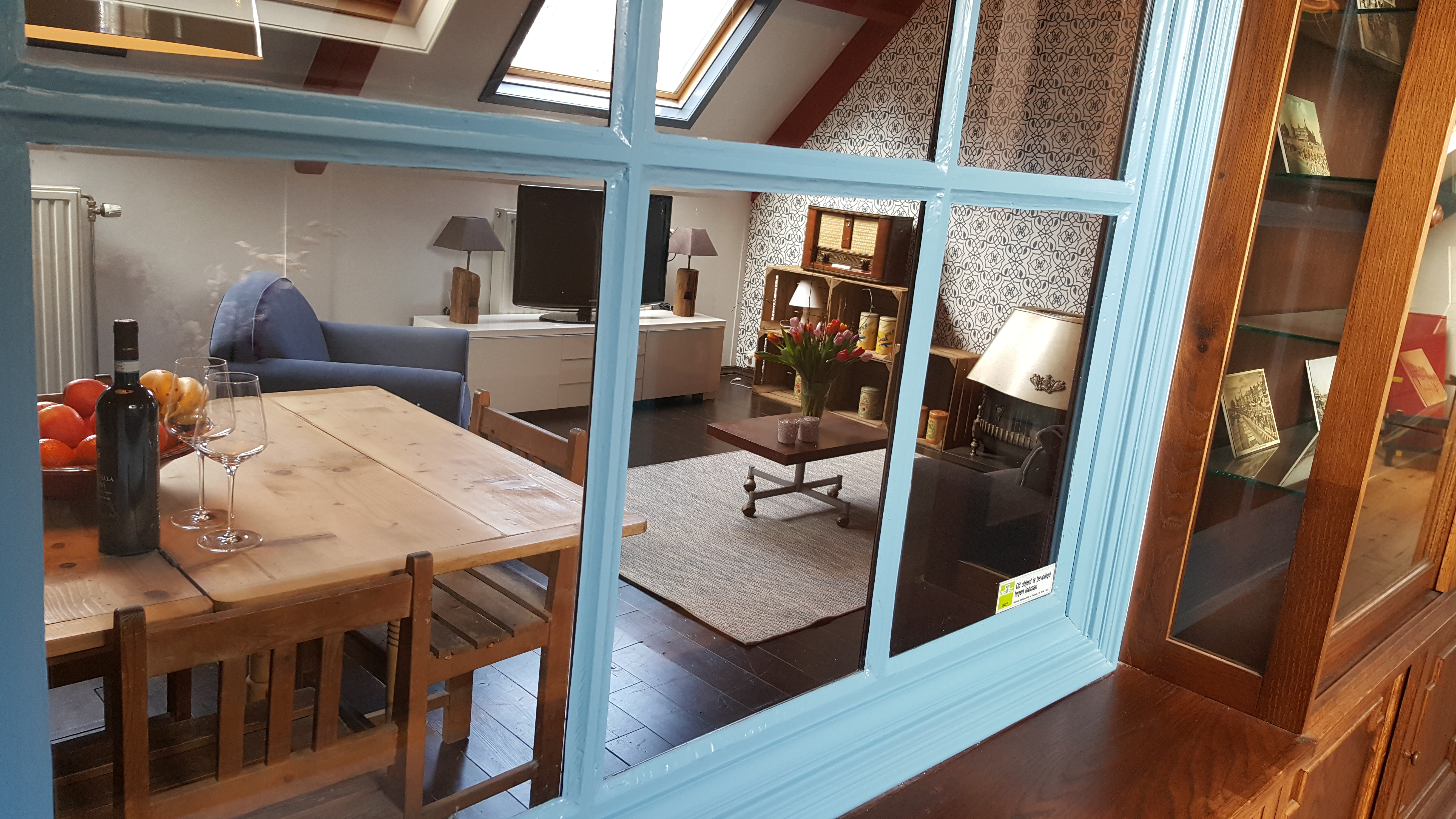 Doorkijk Toegang kamer B&B Lant van Beloften Vlissingen Zeeland Vakantiewoning Ferienwohnung Strand Bed and Breakfast