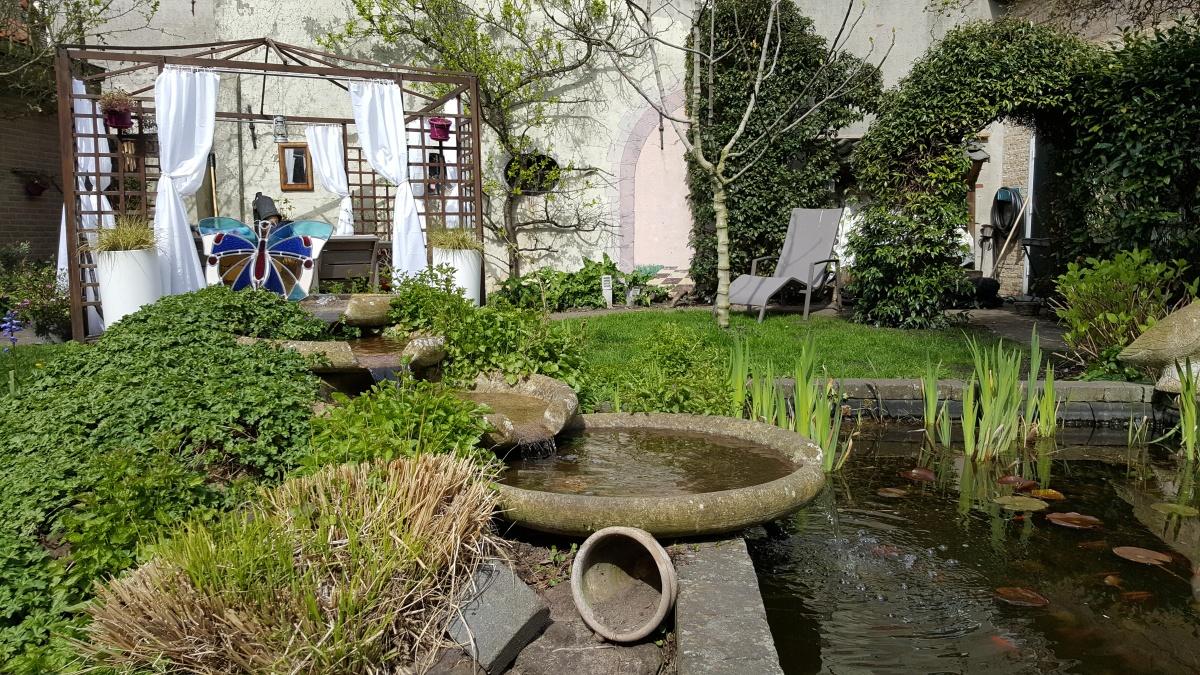 Tuin B&B Lant van Beloften Vlissingen Zeeland Vakantiewoning Ferienwohnung
